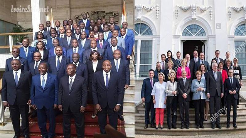 Allemagne 82 millions d'habitants, 15 ministres : Côte d'Ivoire 23 millions d'habitants, 43 ministres
