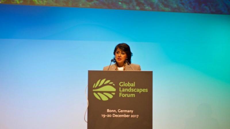 En Allemagne, la Présidente de l'Île Maurice Ameenah Gurib Fakim appelle à la solidarité mondiale pour la protection des territoires et des paysages