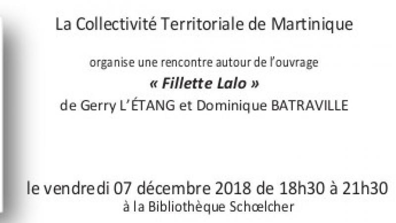 Gerry L'Etang présente « Fillette Lalo » à la Bibliothèque Schoelcher