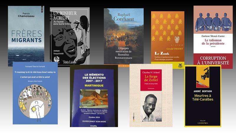Les livres martiniquais qui ont marqué l'année 2018