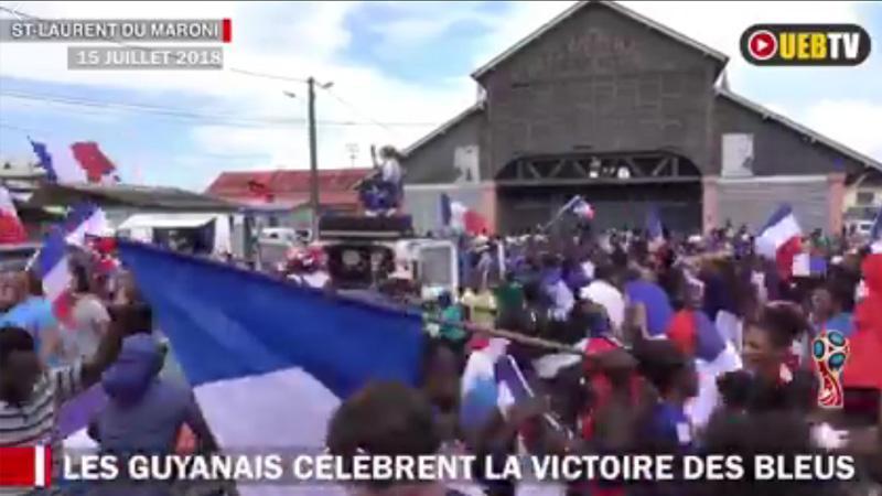 Les Saint-Laurentais fêtent la victoire des bleus champions du monde