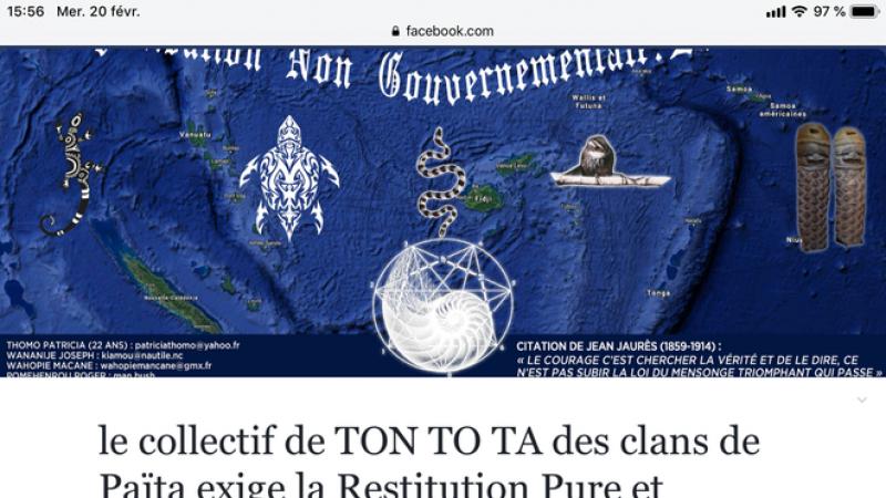 Le collectif de TON TO TA des clans de Païta exige la Restitution de son Titre Minier