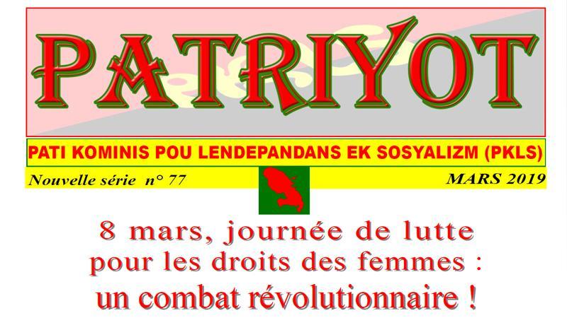 Patriyot #77 Mars 2019