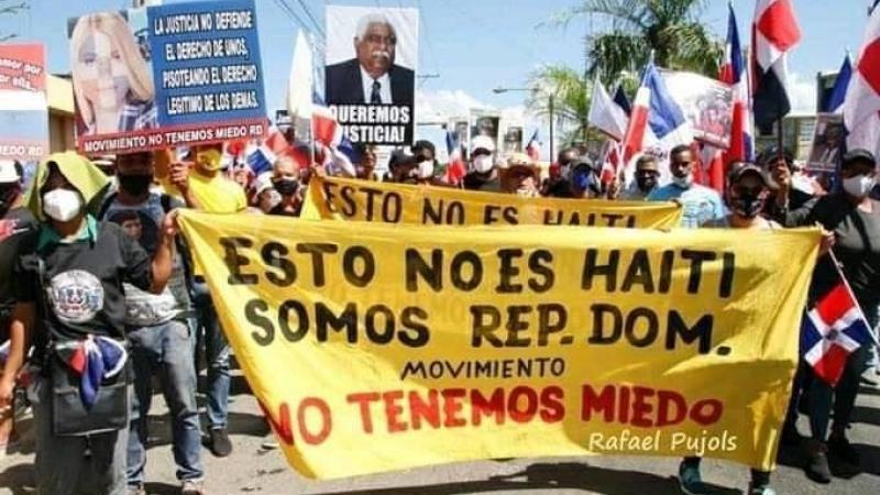 Manifestations contre les immigrés haïtiens illégaux