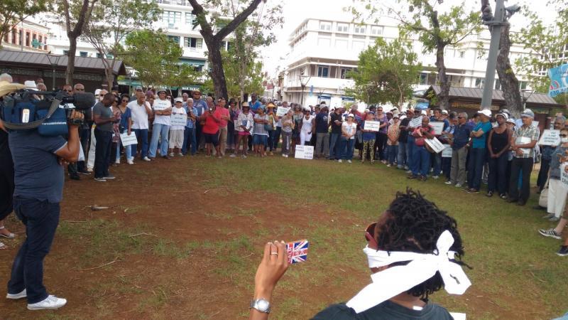Des centaines de manifestants disent NON au retour du trio du CEREGMIA