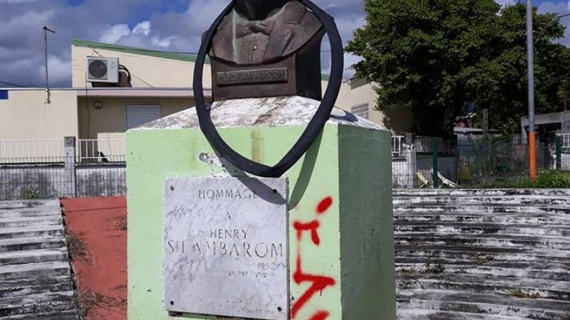 Profanation de la stèle Henri Sidambarom à Capesterre Belle-eau