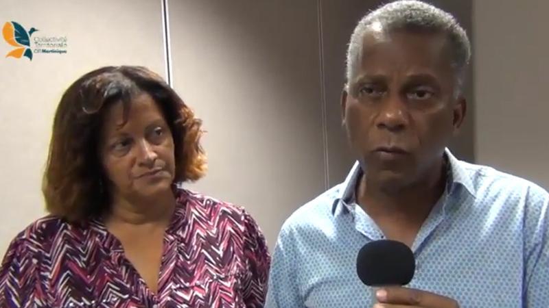 Francis Carole et Sylvia Saïtsoothane à l'écoute des personnels des lycées