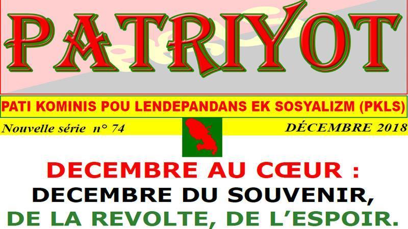 Patriyot #74 Décembre 2018
