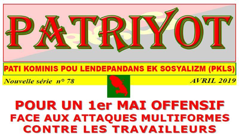 Patriyot #78 Avril 2019