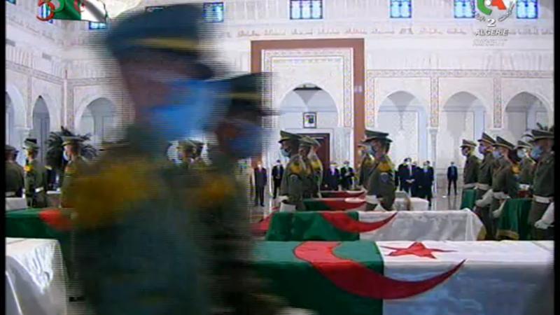 Accueil solennel pour les restes de vingt-quatre résistants algériens