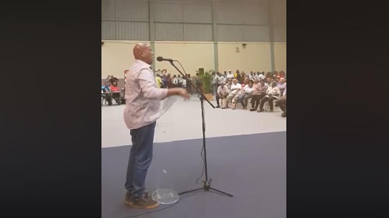 Discours de Lucien Adenet, militant historique du MIM (Mouvement Indépendantiste Martiniquais) au Gros-Morne
