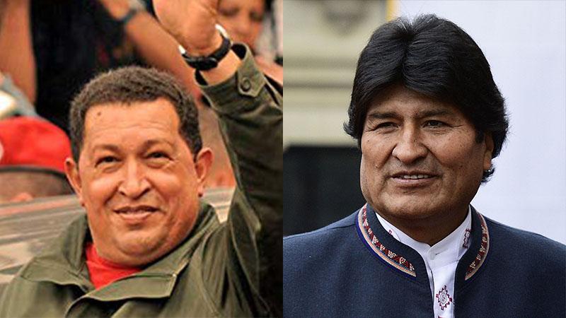 LE MULATRE CHAVEZ ET L'INDIEN MORALES HONNIS PAR LA BOURGEOISIE BLANCHE