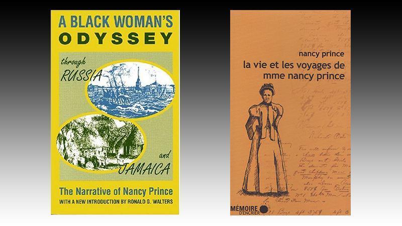 « La vie et les voyages de madame Nancy Prince »   (1850)  de Nancy PRINCE