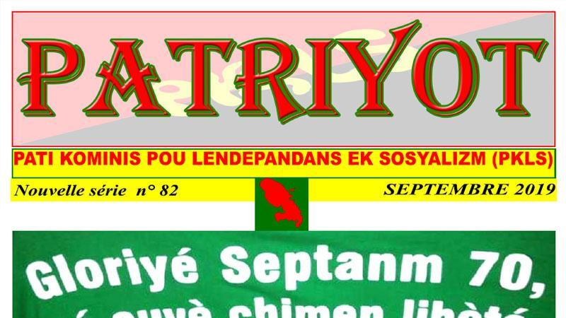 Patriyot #82 Septembre 2019