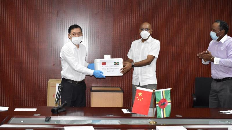 Dominica receives first batch of medical supplies donation from China