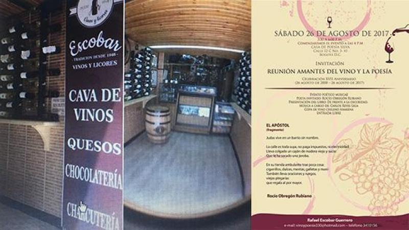 INVITACIÓN VINO Y POESÍA - INVITACIÓN INAUGURACIÓN CAVA DE VINOS