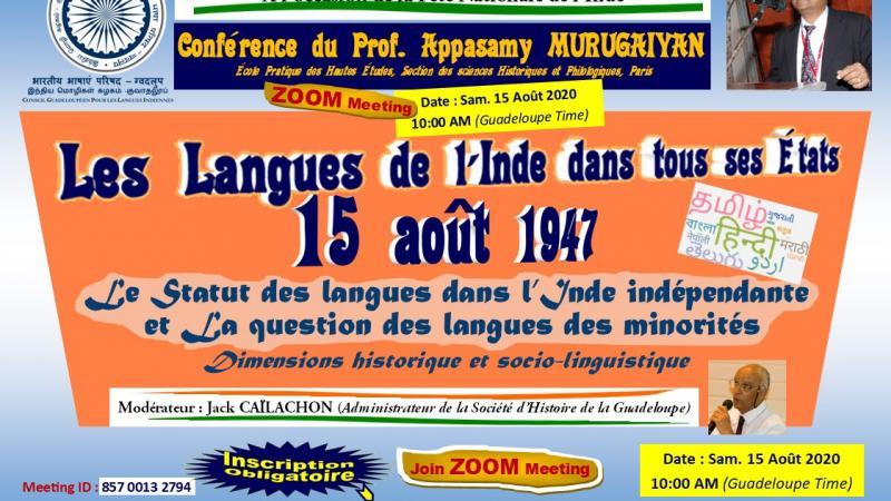 Les langues de l'Inde dans tous ses états – 15 août 1947