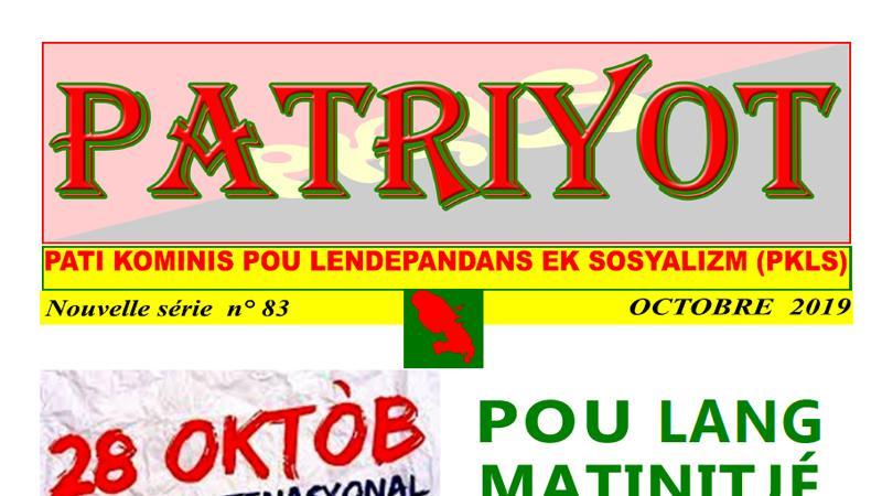 Patriyot #83 Octobre 2019