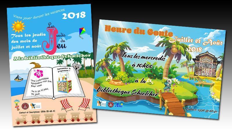 La section jeunesse propose deux animations à l'attention du jeune public durant les mois de juillet et août 2018