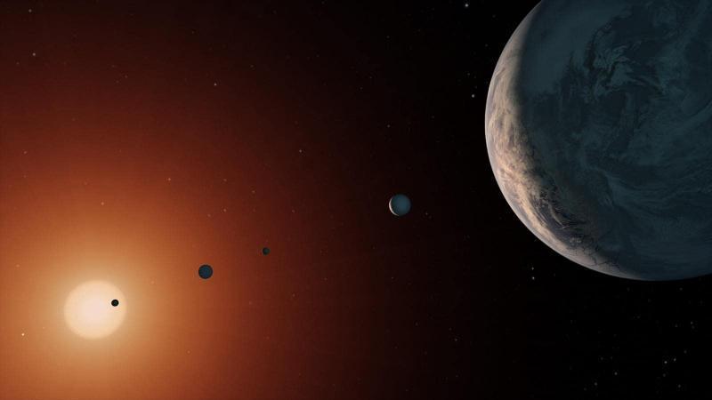 La présence d'eau confirmée sur les planètes de Trappist-1