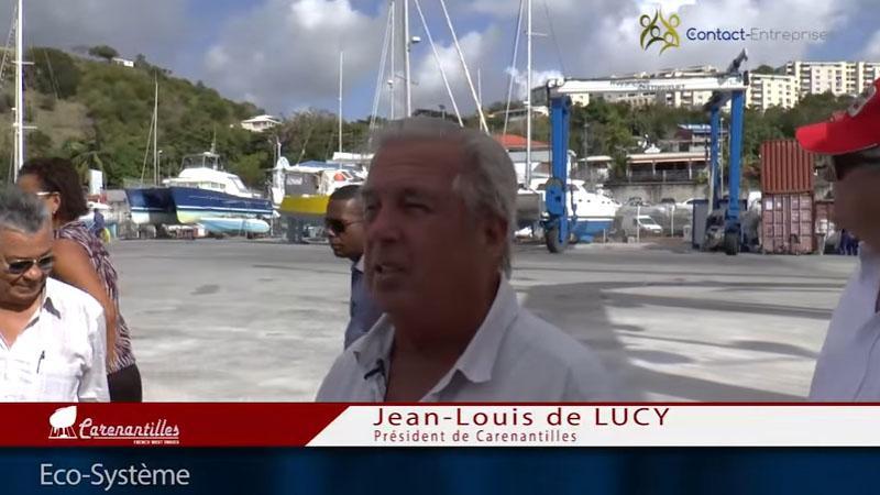 QUAND JEAN-LOUIS DE LUCY PARADAIT AVEC SA ZONE DE CARENAGE A 18 MILLIONS D'EUROS