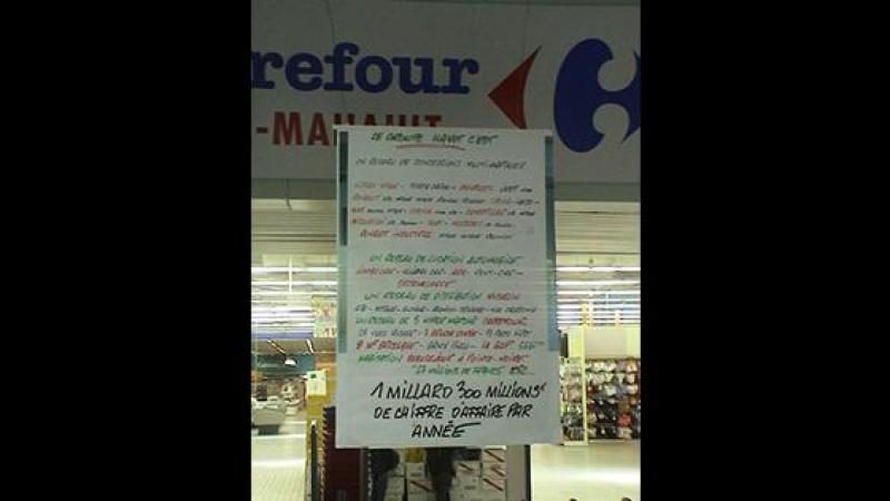 Hayot vlé krazé travayè Carrefour !