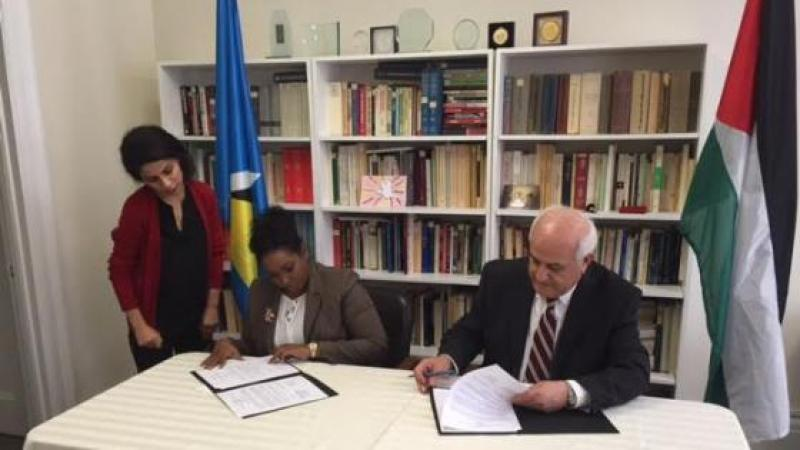 SAINT LUCIA ESTABLISHES DIPLOMATIC RELATIONS WITH THE STATE OF PALESTINE