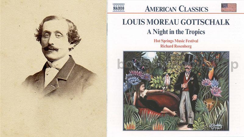 LOUIS MOREAU GOTTSCHALK (1829-1869), pianiste et premier compositeur étatsunien