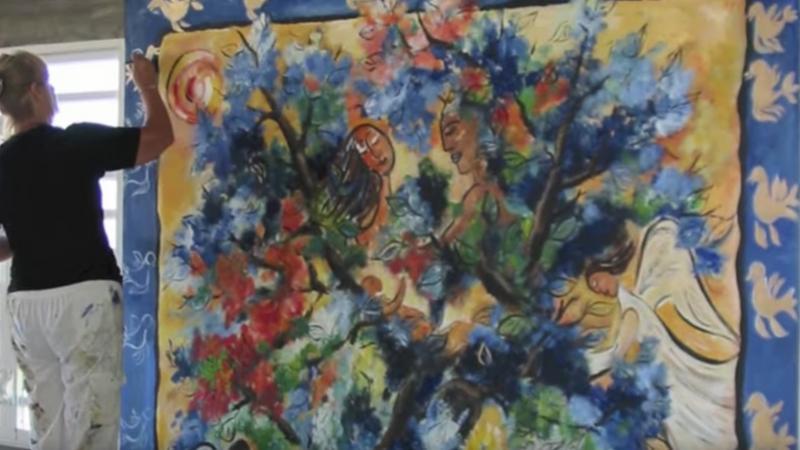 Une peintre suédoise à la Martinique