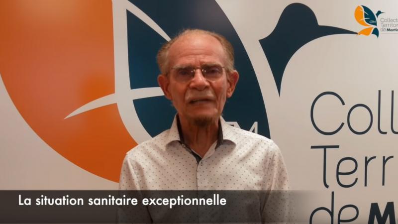 Message d'Alfred Marie-Jeanne à la population à propos de la situation sanitaire