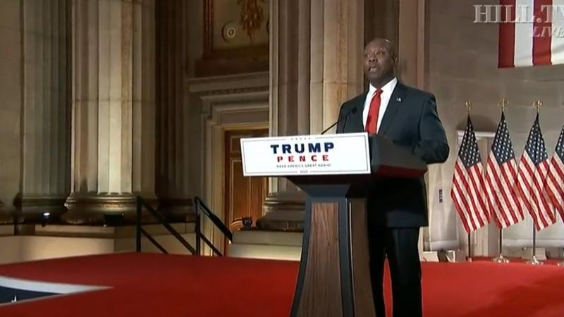 """Le sénateur Tim Scott : """"Donald Trump a créé 7 millions d'emplois !"""""""