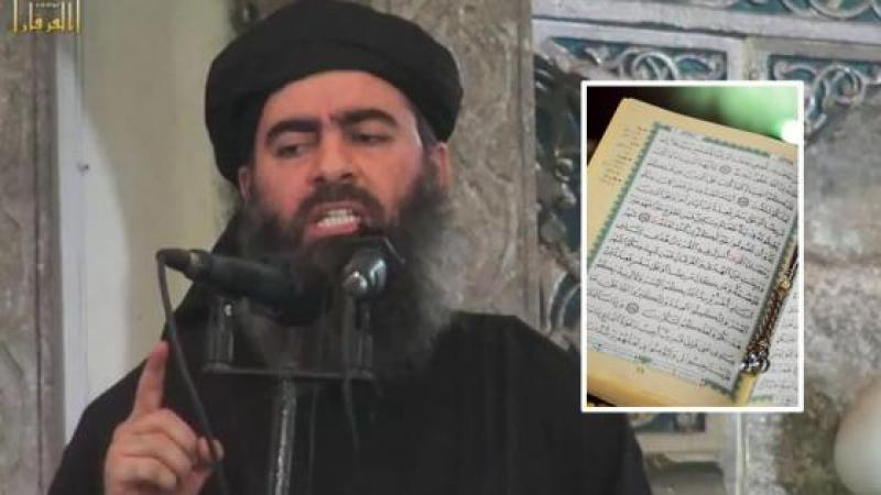 L'ETAT ISLAMIQUE ANNONCE SA DISSOLUTION APRES QUE SON CHEF A LU LE CORAN POUR LA PREMIERE FOIS