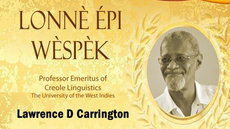 Prof Lawrence D. Carrington, honoured by Trinidad and Tobago for his work on French Creole