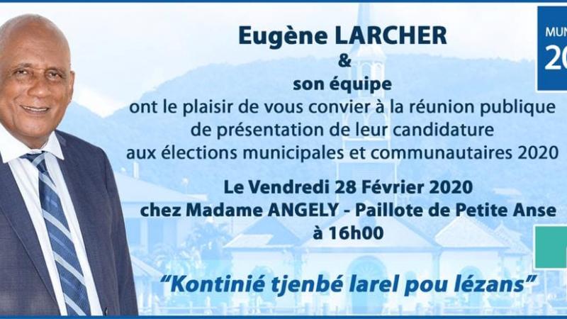 ANSES D'ARLETS : PRESENTATION DE LA LISTE D'EUGENE LARCHER
