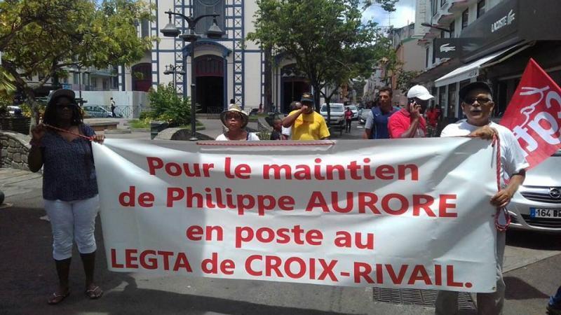 Motion des élus de l'Assemblée de Martinique sur la situation de Phiippe AURORE, directeur de l'EPLEFPA de Croix Rivail