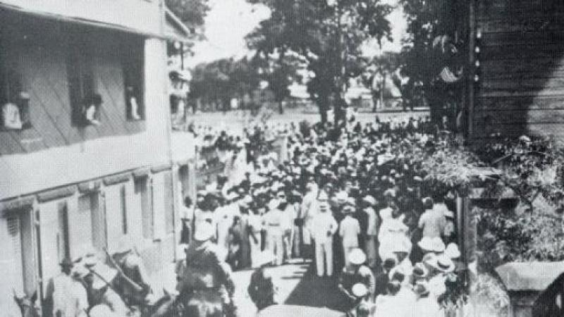 1935 : La marche de la faim en Martinique
