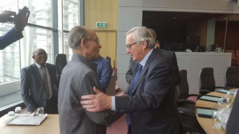 Intervention du Président Alfred MARIE-JEANNE devant le président de la commission Européenne, Jean-Claude JUNKER