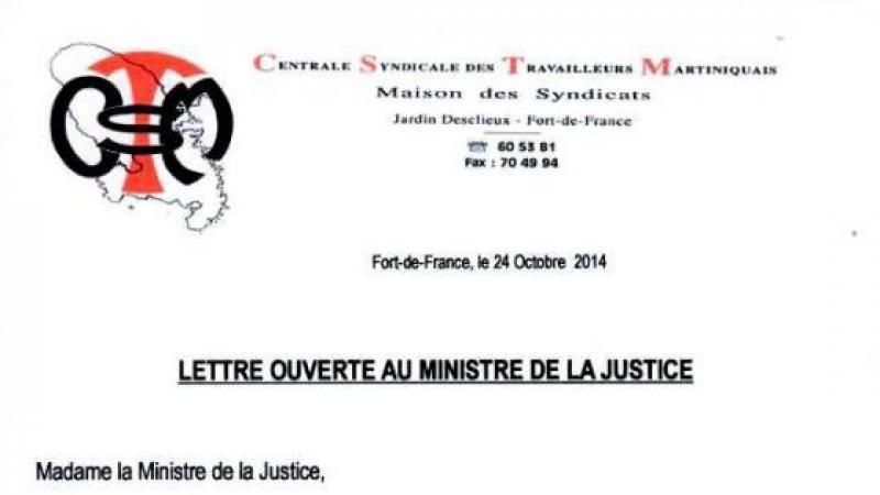 LETTRE OUVERTE AU MINISTRE DE LA JUSTICE