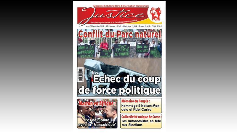"""JUSTICE"" (n° 49), L'HEBDO D'INFORMATION COMMUNISTE DE LA MARTINIQUE"