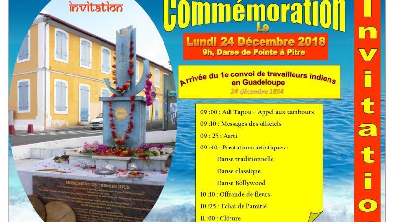 COMMÉMORATION DE L'ARRIVÉE DU PREMIER CONVOI DE TRAVAILLEURS INDIENS EN GUADELOUPE