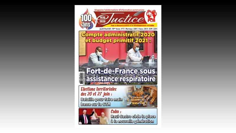 Votes du Compte administratif 2020 et du budget primitif 2021 Fort-de-France sous assistance respiratoire
