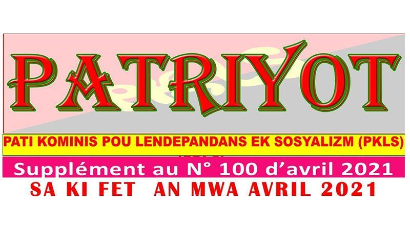 Patriyot #100 Avril 2021 - supplément