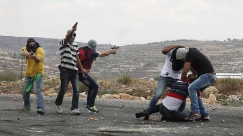 UNE MANIFESTATION PALESTINIENNE INFILTREE PAR DES AGENTS ISRAELIENS