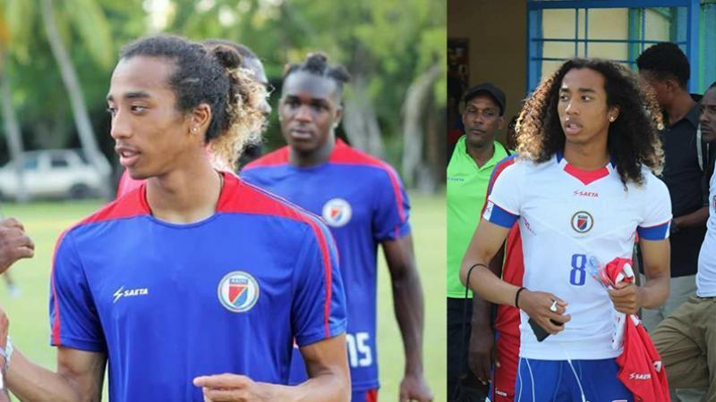 """Le footballeur haïtiano-japonais, Zackary Hériveaux, membre des """"Grenadiers"""", la sélection nationale d'Haïti"""
