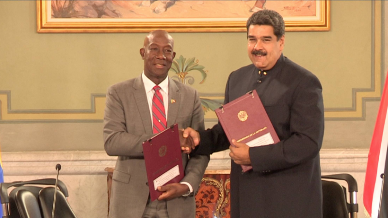 T&T and Venezuela sign historic gas deal
