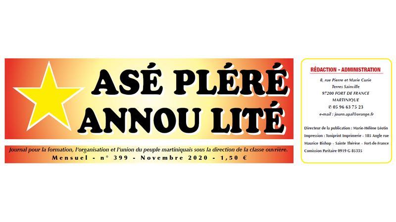 Asé pléré annou lité n°389 - novembre 2020