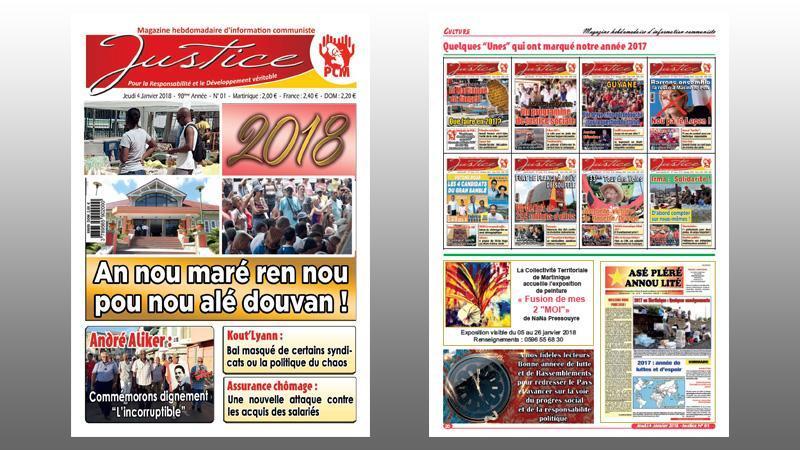 """L'HEBDOMADAIRE COMMUNISTE """"JUSTICE"""" ENTRE DANS SA 98è ANNEE D'EXISTENCE"""