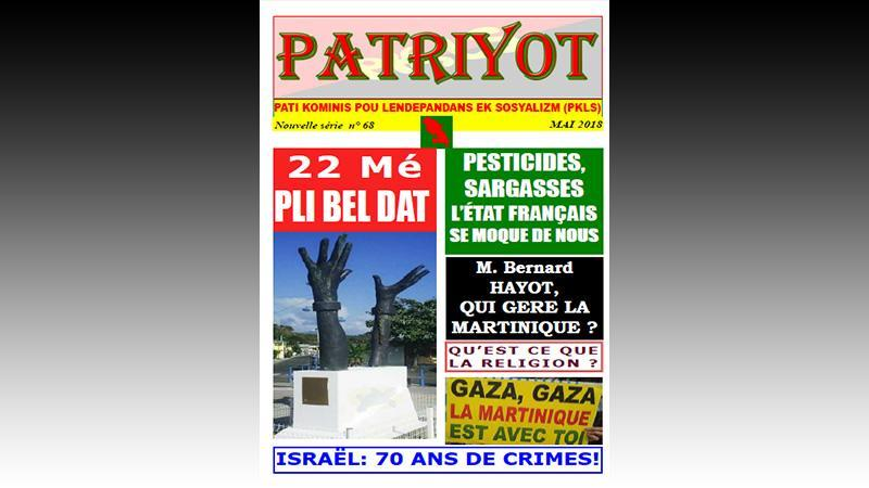 "Journal ""PATRIYOT"" de mai 2018"