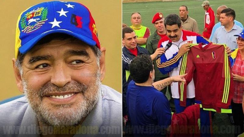 """Diego Maradona en Instagram: """"Hoy, más que nunca, con el presidente Nicolás Maduro"""""""