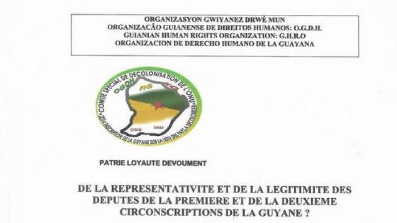 DE LA REPRÉSENTATIVITÉ ET DE LA LÉGITIMITÉ DES DEPUTÉS DE LA GUYANE ?